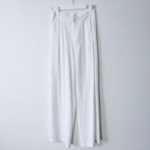 ANGL Wide Leg Dress Pants White Size M
